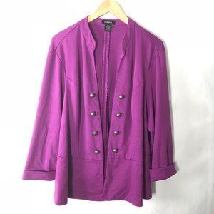 750e3691884 Torrid military jacket purple plus size 3X